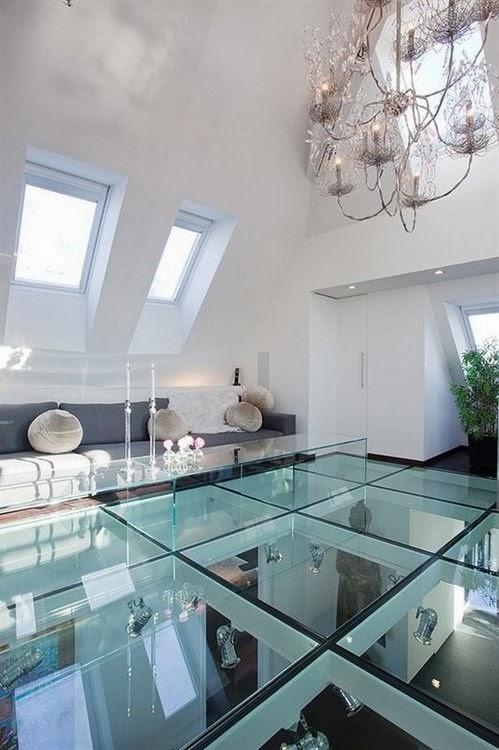 chão de vidro - loft