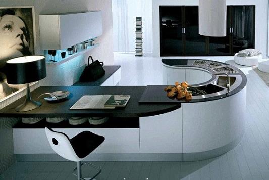 Cozinha Com Ilha Redonda