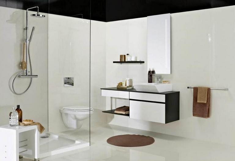 remodelações de casas de banho 04 - contraste branco e preto