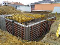 Construção de moradia - cofragens