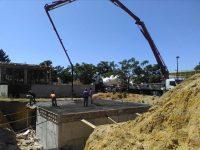 Construção de moradia - betonagem